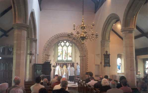 A service at St Mary's Church, Cricklade, May 2000